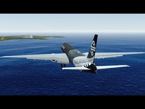 Infinite Flight B777 Air Newzealand takeoff at San Diego International Airport