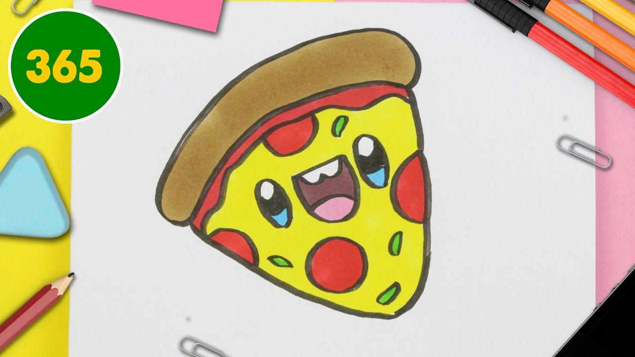 How To Draw A Cute Pizza Kawaii