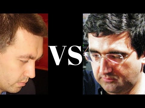Gata Kamsky vs Vladimir Kramnik - WCh Cands. 1994 - Semi-Slav (D44) Brilliancy! (Chessworld.net)