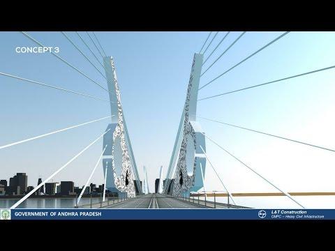 ప్రపంచ దేశాలను తలదన్నేలా అమరావతి ఐకాన్ | Amaravathi Iconic Bridge Design