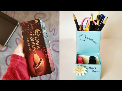 Pen stand with dark fantasy boxBest out of waste  Zainab