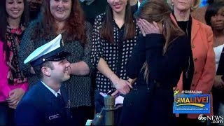 Surprise Proposal Shocks Unsuspecting Girlfriend On Veteran's Day