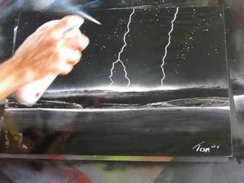 Spray Paint Art Epainting Awesome Lightning