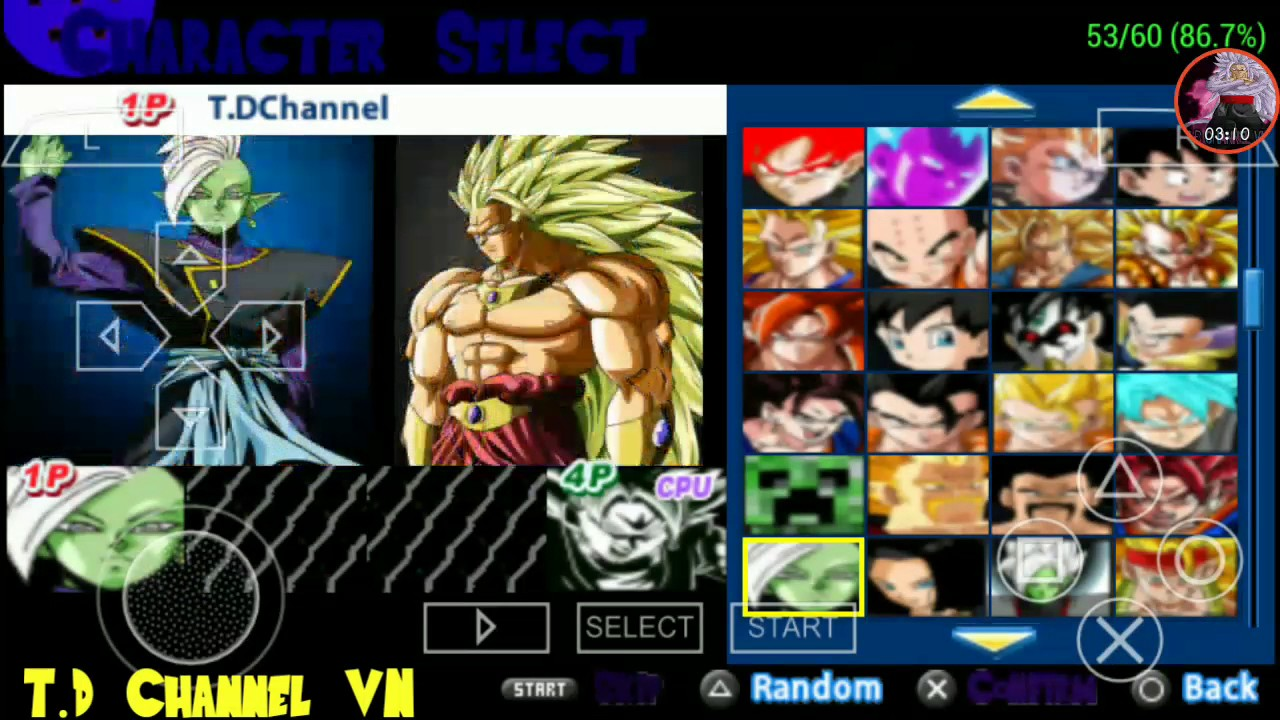 dragon ball z tenkaichi tag team ppsspp download mod