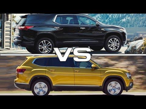 2018 Chevrolet Traverse vs 2018 Volkswagen Atlas