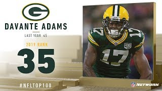 #35: Davante Adams (WR, Packers) | Top 100 Players of 2019 | NFL