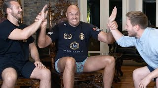 In-depth with Tyson Fury and Ben Davison in Las Vegas mansion on Wilder-Fury 2, Joshua, Schwarz