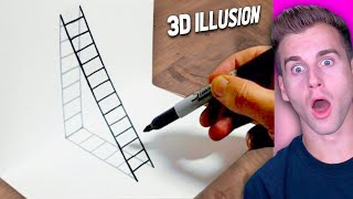 3D Drawing ILLUSIONS That Will Make You BLINK TWICE..