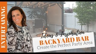 Download Video Outdoor Entertaining: Bar Area Set Up with Pergola MP3 3GP MP4