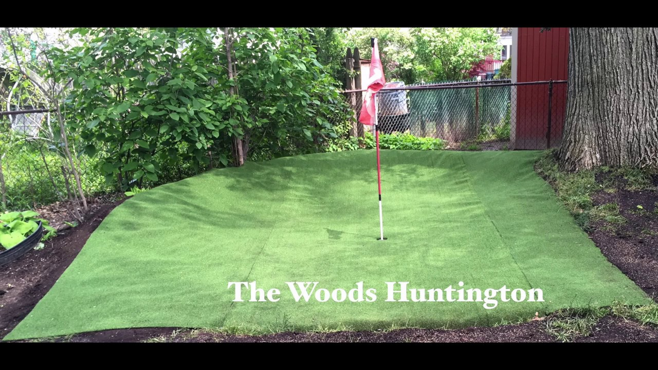 the woods huntington a 3 hole backyard golf course youtube