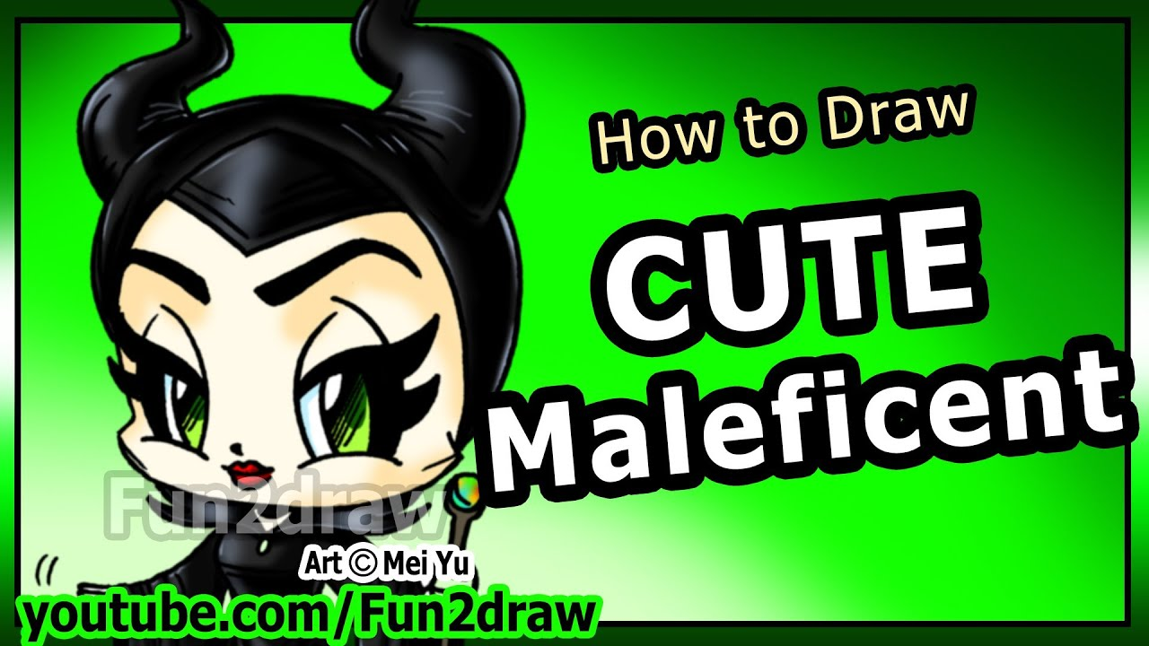 How To Draw Disney Characters Maleficent Angelina Jolie Fun2draw Cartoon Art Lesson