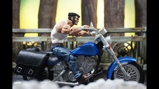 Hasbro Marvel Legends 2018 Legendary Riders WOLVERINE W/Motorcycle Action Figure Review