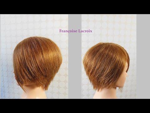Coupe courte femme dégradée, carré plongeant nuque | Short Bob haircut  | Corte de pelo corto mujer