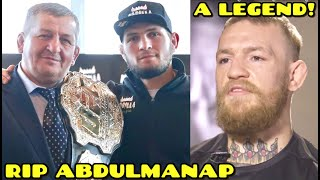 MMA Community REACTS to Khabib's father Abdulmanap Nurmagomedov passing away after battle with COVID