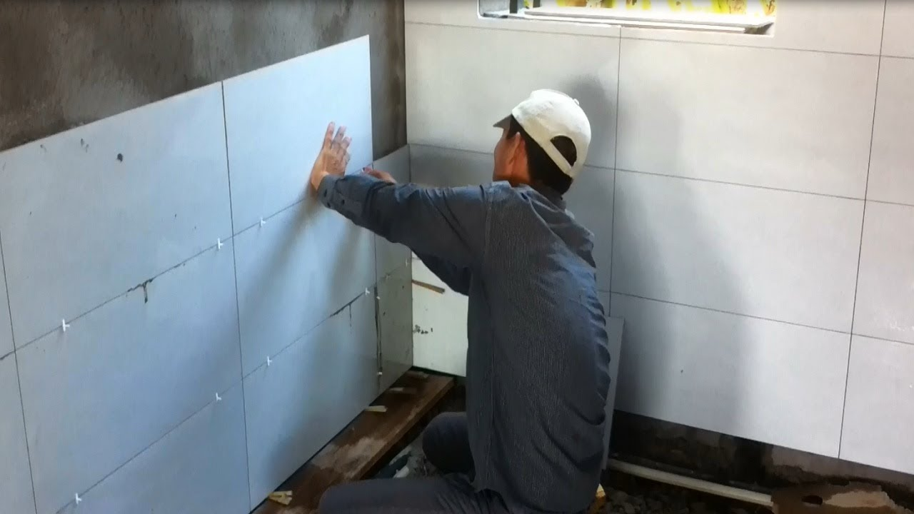 How to install ceramic tiles in the kitchen - building construction ...