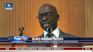 SA Anti-Foreigner Protests: Home Affairs Minister Preaches Peace At Church Service