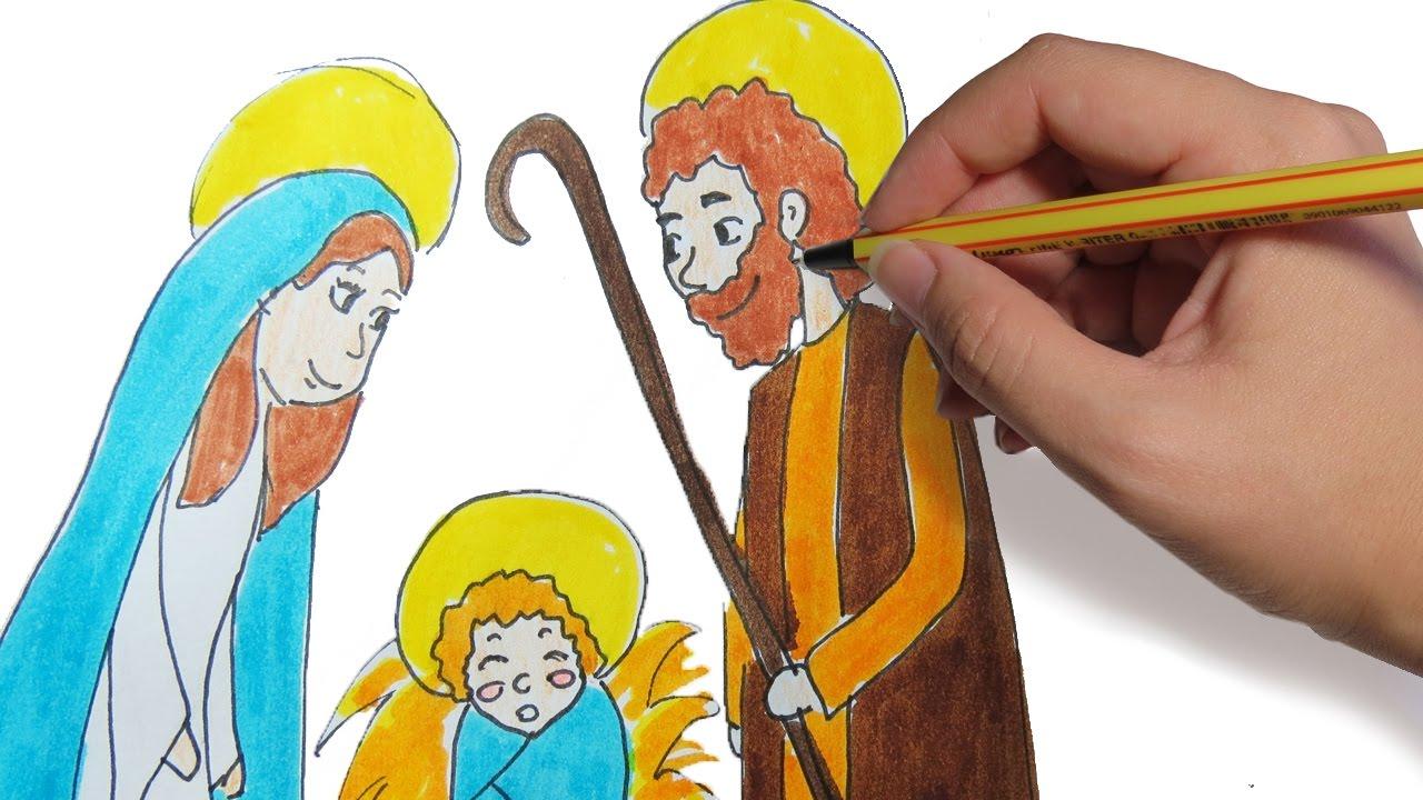 Como Dibujar El Pesebre Para Navidad Paso A Paso Dibujos Faciles De Navidad Para Niños A Color