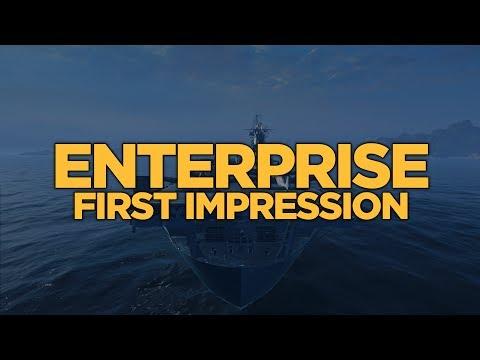World of Warships - Enterprise First Impression