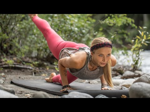 15 MIN ABS YOGA WORKOUT   Flat Stomach & A Tighter Waistline ➤+ 7 DAY CHALLENGE
