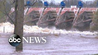 Two dams in central Michigan fail
