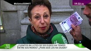 ¿Han tenido alguna vez un billete de 500 euros en la mano?