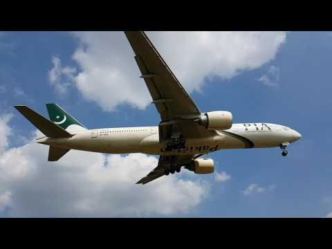 PIA landing at Birmingham International Airport