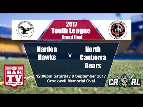 2017 Canberra RL Youth League Grand Final - Harden Hawks v North Canberra Bears