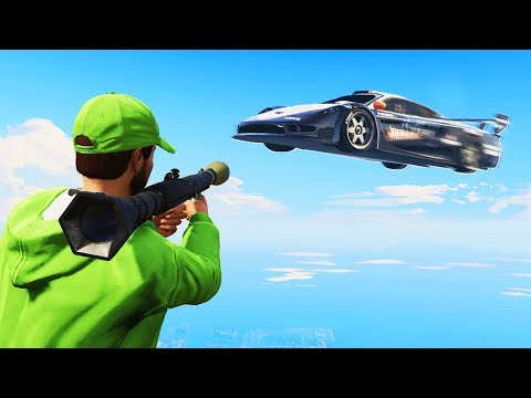 ROCKETERS vs. FLYING CARS! (GTA 5 Funny Moments)