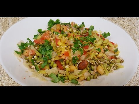 Sprouted Moong chat (Healthy recipe)