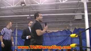 Tasw Wrestling, Ayden Cristiano Promo, Armadillo Events Center, 09-29-13, Houston, Texas
