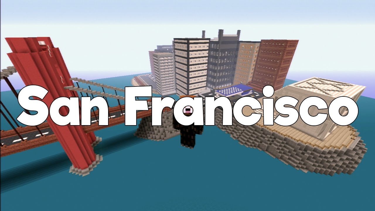SAN FRANCISCO Hunger Games 265 MINECRAFT PS3 PS4 MAP DOWNLOAD