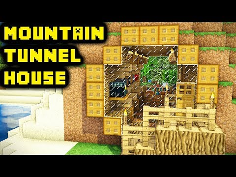 Minecraft: Easy Unique Mountain Tunnel House Tutorial (How to Build)