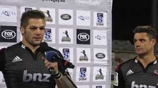 Post Match Presentation - Moore, Alexander, McCaw and Carter | Brumbies vs Crusaders
