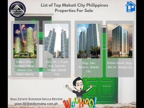 List of Top Makati City, Metro Manila Philippines Properties For Sale