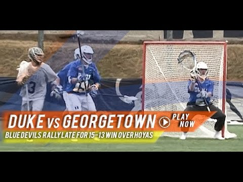 Duke vs Georgetown | 2015 College Lacrosse Highlights