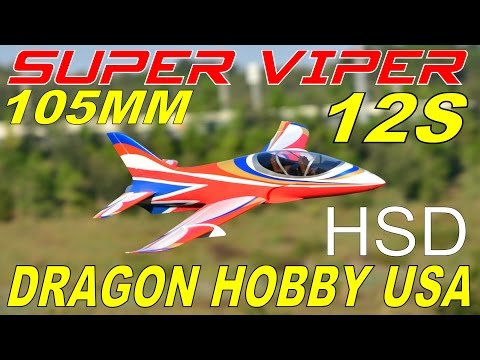 Dragon Hobby HSD 105mm SUPER VIPER 12S Full Flight Review By: RCINFORMER