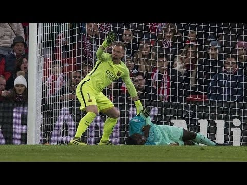 Samuel Umtiti get rid from death. Athletic Bilbao Vs Barcelona 2-1 -- 1/5/2017