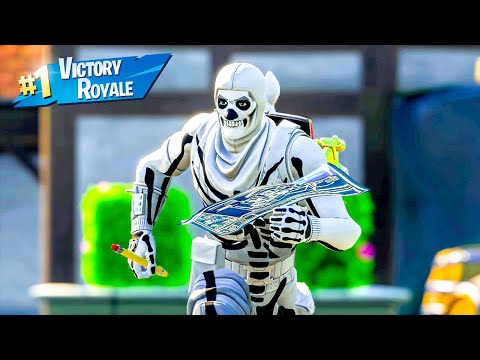 White Skull Trooper Skin Squad Win Full Gameplay Fortnite Chapter 2 Season 11 No Commentary