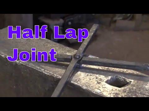 Forging the half lap joint - blacksmithing technique