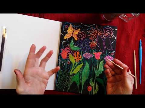 ASMR | Quarantined Life Catch UP! Whispered Ramble Chat With Coffee And Color Etching.