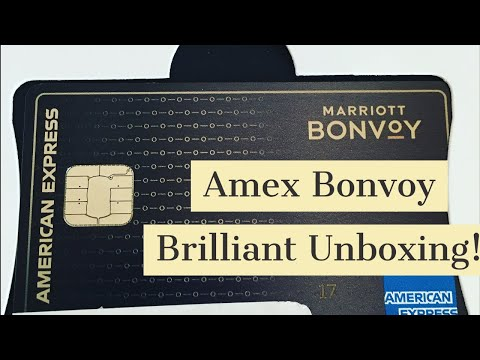 Must Watch! Unboxing! Luxury American Express Bonvoy Brilliant - All Black Metal Card!