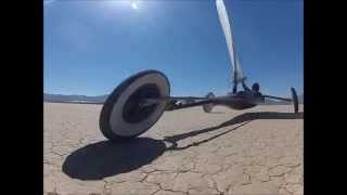 Fly By Ivanpah Landsailing
