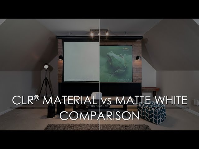 Elite Screens StarBright CLR® Material vs Matte White Material Comparison