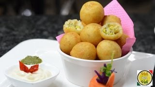 Golden Fried Cheese & Sweetcorn Balls - By Vahchef @ Vahrehvah.com