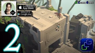 Lara Croft GO Android iOS Walkthrough - Part 2 - The Maze Of Snakes, The Maze Of Stones