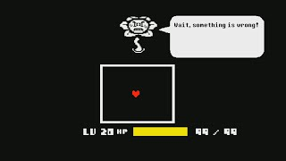 Undertale What if tнe level is 20 at the beginning and kill Flowey?