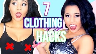 Video 7 CLOTHING Hacks EVERY Girl MUST KNOW! download MP3, 3GP, MP4, WEBM, AVI, FLV November 2017