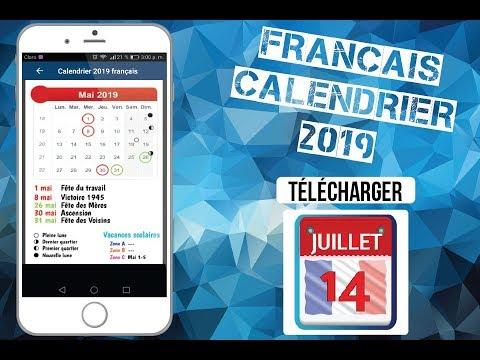 Calendrier 2019 Français Avec Vacances Scolaires Apps Bei