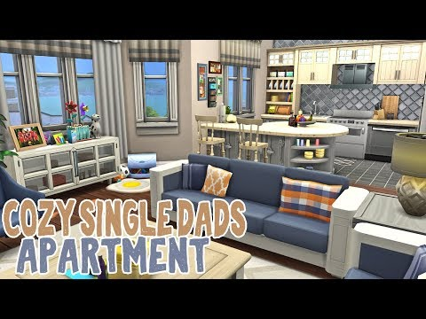Cozy Single Dad's Apartment || The Sims 4 Apartment Renovation: Speed Build thumbnail