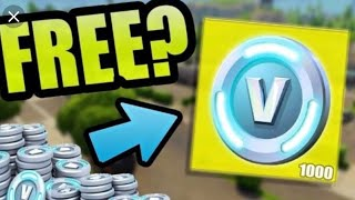How to get 1,000 vbucks for FREE in Fortnite battle royale!